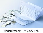 bank saving deposit account and ... | Shutterstock . vector #749527828