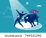bullish market. concept... | Shutterstock .eps vector #749531290