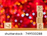 2018 in the foreground ... | Shutterstock . vector #749533288