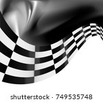 checkered flag background... | Shutterstock .eps vector #749535748