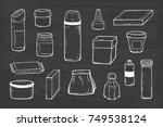 packaging vector set. blank...   Shutterstock .eps vector #749538124