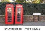 bayswater road in london ... | Shutterstock . vector #749548219