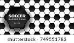 soccer background. ornament...   Shutterstock .eps vector #749551783
