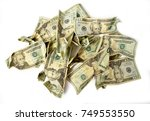 gold coin purse close up full... | Shutterstock . vector #749553550