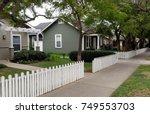 residential neighborhood homes  ... | Shutterstock . vector #749553703