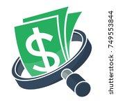 icon logo for business finance  ... | Shutterstock .eps vector #749553844