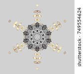 cute  simple vector snowflakes... | Shutterstock .eps vector #749554624