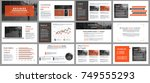 business presentation slides... | Shutterstock .eps vector #749555293