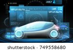 transport and future technology ... | Shutterstock . vector #749558680