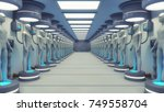 3d rendering. humanoid and... | Shutterstock . vector #749558704