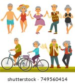 older people fun leisure and... | Shutterstock .eps vector #749560414