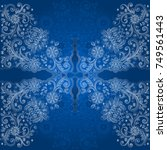 illustration of floral doodle...   Shutterstock .eps vector #749561443