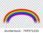 transparent rainbow. vector... | Shutterstock .eps vector #749571220