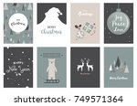 merry christmas cards ... | Shutterstock .eps vector #749571364