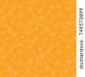 vector orange spiderweb texture ...   Shutterstock .eps vector #749573899