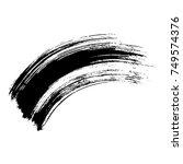 simple rounded brush stroke | Shutterstock .eps vector #749574376
