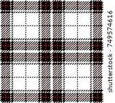 black and white scottish woven... | Shutterstock .eps vector #749574616