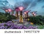 singapore  april 25  night view ... | Shutterstock . vector #749577379