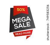 black friday sale banner design ... | Shutterstock .eps vector #749583256