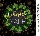 winter sale banner. background... | Shutterstock .eps vector #749584234
