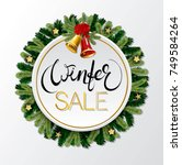 winter lettering design with... | Shutterstock .eps vector #749584264