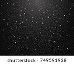 falling snow on a transparent... | Shutterstock .eps vector #749591938