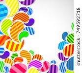bright striped colorful curved... | Shutterstock . vector #749592718