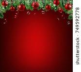 xmas frame | Shutterstock . vector #749592778