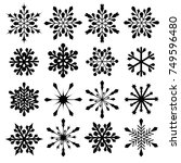 snowflakes vector collection.... | Shutterstock .eps vector #749596480