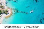 saona island in dominican... | Shutterstock . vector #749605234