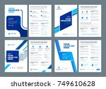 blue brochures annual reports... | Shutterstock .eps vector #749610628