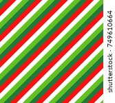 christmas candy cane four color ... | Shutterstock .eps vector #749610664
