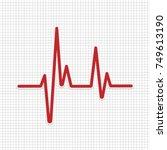 heartbeat   vector icon... | Shutterstock .eps vector #749613190