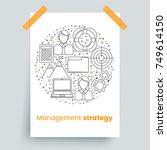 management set  line art icons  ... | Shutterstock .eps vector #749614150