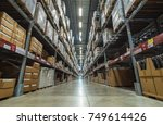large warehouse logistic or... | Shutterstock . vector #749614426