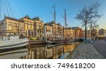 historic buildings on hoge der... | Shutterstock . vector #749618200