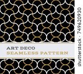 art deco seamless pattern with... | Shutterstock .eps vector #749620930