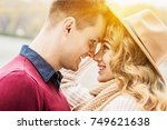 love you so much. closeup of... | Shutterstock . vector #749621638