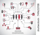 human resources   conceptual... | Shutterstock .eps vector #749621938