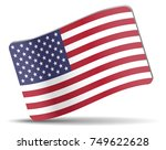 flag of usa  wavy card | Shutterstock . vector #749622628