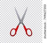 scissors isolated on... | Shutterstock .eps vector #749627203