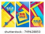 set sale inscription design... | Shutterstock .eps vector #749628853