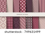 seamless patterns polka dots... | Shutterstock .eps vector #749631499