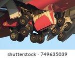 main landing gear of civil... | Shutterstock . vector #749635039