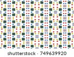 square print on white background | Shutterstock . vector #749639920
