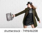 studio portrait of beautiful... | Shutterstock . vector #749646208