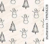 vector illustration. pen style... | Shutterstock .eps vector #749656228