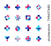 set of abstract medical or... | Shutterstock .eps vector #749657680