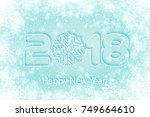 happy new year 2018 background... | Shutterstock .eps vector #749664610