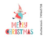 template greeting card and... | Shutterstock .eps vector #749665738
